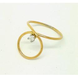 GLOD RING WITH DIAMOND...