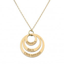 18K. GOLD NECKLACE THREE...